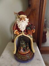 "JIM SHORE SANTA MUSIC BOX "" Toy-land"" Christmas Tree Children   2006"