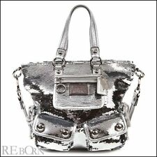 Authentic  COACH Outlet  Tote 2WAY POPPY Poppy Sequin Spotlight Tote 13821 silve
