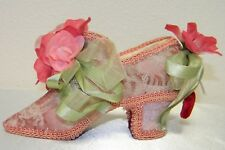 Hand Made Decorative Home Decor Shoe with Flowers and Ribbons, Very Pretty!!