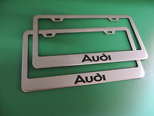 "(2)"" AUDI "" Stainless Steel license plate frame"