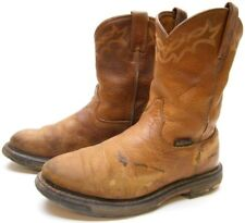 MENS ARIAT 16902 WORKHOG BROWN LEATHER RANCH WORN WORK COWBOY BOOTS SZ 9.5~1/2 D