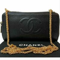 CERTIFIED AUTH. CHANEL CC Caviar  Leather Zip around Wallet~US SELLER