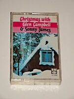 CHRISTMAS WITH GLEN CAMPBELL & SONNY JAMES CASSETTE BRAND NEW SEALED 4XL-6926 SM