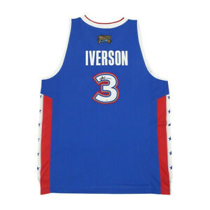 Allen Iverson signed 2005 NBA East All Star Reebok Swingman Blue Jersey JSA