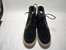 American Eagle Black Suede Fringe Lace Up High Top Sneakers Women's Size 7 M