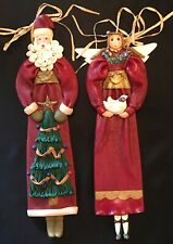 "Cynthia Madrid Santa & Angel 17-1/2"" Wall Plaque Midwest Of Cannon Falls 1997"