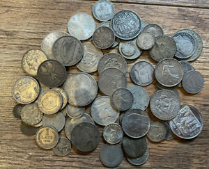 World Lots Of Silver Coins 450 Grams  Scrap Or Collect