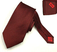 "BRIONI NEW $230 MINI-BOX SELFTIP 100%SILK TIE HAND MADE IN ITALY W3.5"" L62"" LONG"