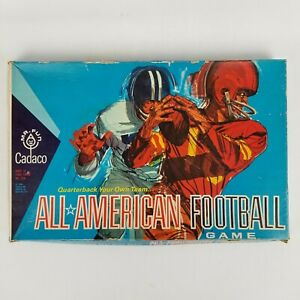 Vintage 1965 Cadaco All American Football Game Quarterback Your Own Team
