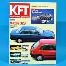 KfT Kraftfahrzeugtechnik 12/1990 3er BMW Audi 80 Six Days Mazda 323 Fiat Uno F