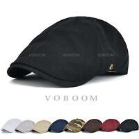 VOBOOM Cotton Mens Ivy Hat Newsboy Gatsby Cap Golf Driving Flat Cap Cabbie Beret