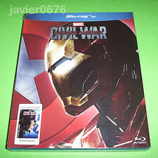 CAPITAN AMERICA CIVIL WAR BLU-RAY NUEVO Y PRECINTADO IRON MAN