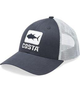 BRAND NEW COSTA DEL MAR TUNA WAVES TRUCKER HAT - NAVY