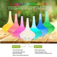 200ML Ultrasonic Home Aroma Humidifier Air Diffuser Purifier Lonizer Atomizer