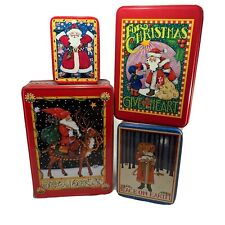 Mary Engelbreit Vtg Empty Christmas Tins Midwest Cannon Falls Set Of Four