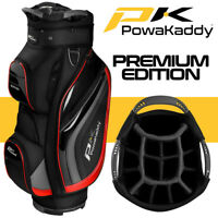 PowaKaddy Premium Edition Golf Cart Bag Black/Gunmetal/Red - NEW! 2020