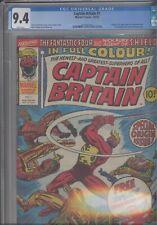 Captain Britain #1 CGC 9.4 1976 Marvel 1st App and Origin Issue : New Frame