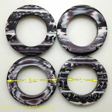 Lot 4 Abstract Dark Purple/White Diy Art Purse Handbag/Tote Strap Lucite O-Rings