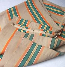 More details for vintage heavy canvas striped door / patio curtain