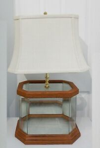 Vintage Mirrored Display Case Room Box Lamp for 1:12 Dollhouse Miniatures