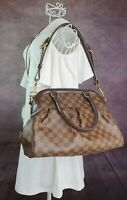 Authentic Louis Vuitton Trevi PM Damier Ebene Two Way Bag with Dust Bag