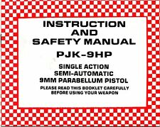 FEG PJK-9HP Hi Power Handgun Users Manual, KBI Owners Guide PDF ebook on cd-r