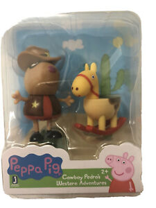 Peppa Pig Cowboy Pedro's Western Adventures Mini Figure rack toy- 2+-horse-NEW