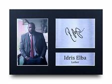 Idris Elba Signed Pre Printed Autograph Photo Gift For a Luther Fan