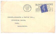 S156 1948 GB *HAMMERSMITH* Bury Lancashire Cover {samwells-covers}PTS