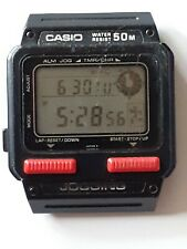 Vintage Rare Casio Watch J-51W Running Man Perfect Working Order New Battery