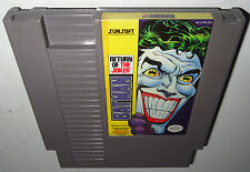 Nintendo NES Game BATMAN RETURN OF THE JOKER Cleaned Tested Super Fun RARE!