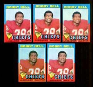 1971 TOPPS #35 BOBBY BELL LOT OF 5 NM F259126