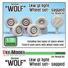 DEF.MODEL, DW35088, German 'Wolf' Lkw gl Iight Sagged Wheel set (for Revel, 1:35