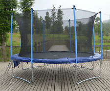 12ft Trampoline plus safe internal safety net enclosure, ladder and rain cover