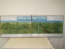 Schautafel Lehrtafel der NVA STOSSTRUPP EINES ZUGES BEI NACHT, auf Pappe aufgez.