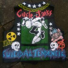 XXXXXXL 6XL Punk Cuero Chaqueta Chaleco Pintado Stud cierre Chaleco Motociclista para Hombre