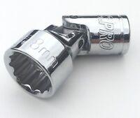 """US Pro 18mm x 12 pt UJ universal swivel wobble joint socket 3/8"""" drive inc VAT"""
