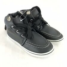 GX Toddler Boys Boots Lace Up Faux Leather Black Size 11