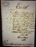 1842 Colonial Spain signed CaptGen GERONIMO VALDES re Marques Real Proclamacion