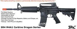 SRC SR4 M4A1 Carbine Dragon Series Airsoft AEG Rifle Metal Gear Box (Black)