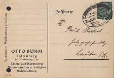 CALLENBERG, Postkarte 1940, Otto Böhm Eisen-Kurzwaren Baumaterialien Tafelglas