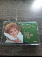 REBA McENTIRE - MERRY CHRISTMAS TO YOU - CASSETTE TAPE - VG- SHIPSN24