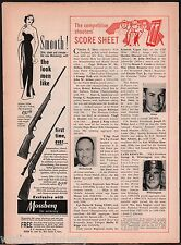 1958 MOSSBERG Model 340X Bolt-Action Rifle AD Collectible Gun Advertising
