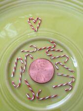 Vintage NOS Christmas Doll House Miniature Candy Cane Diorama Craft Ornament