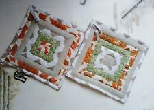 Patchwork Potholders (Set of two, 20cm square)