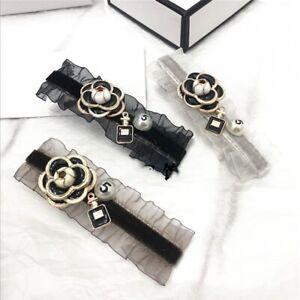Luxury Hair Clip Camellia Flower Hairpin For Women Handmade Fashion Head Jewelry