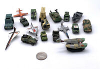 Vintage Military Large Lot Of Tanks Planes Vehicles  Army Micro Machines LGT