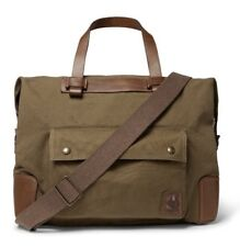 Belstaff Colonial Bag | Leather-Trimmed Canvas, Khaki Brown MSRP $595