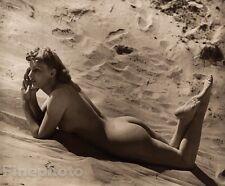 1940 Original FEMALE NUDE Woman Butt Beach Photo Art Deco England ~ JOHN EVERARD