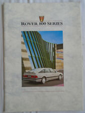 Rover 800 Series range brochure May 1988 ref 3957